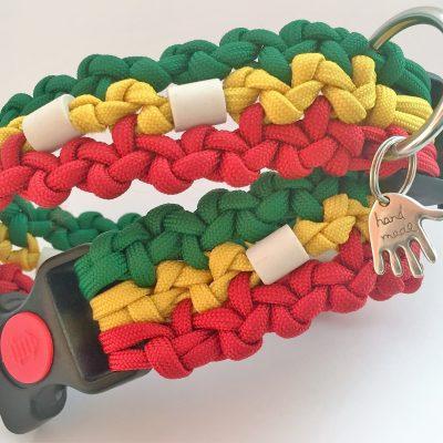 Paracord Halsband im Reggaesytl