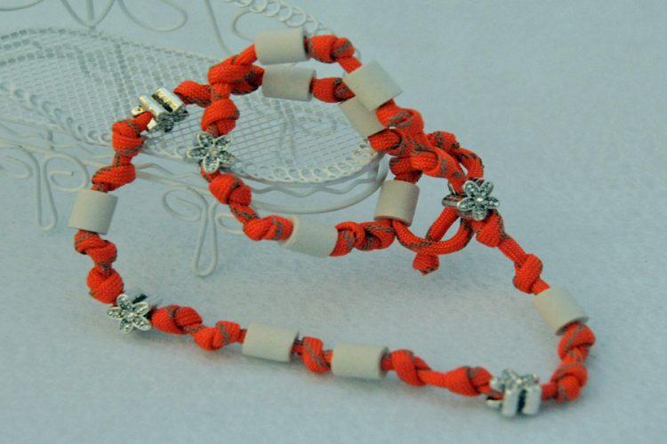 Halsband Reflektierend Orange mit Schneeblume