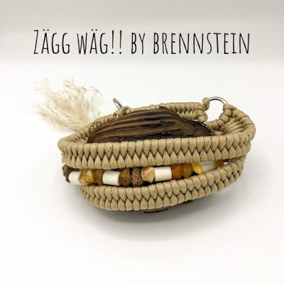 Halsband Bernstein & EM Keramik