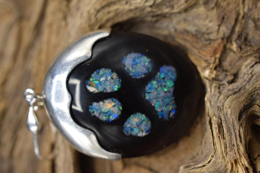 Obsidian Opal Ohrhänger